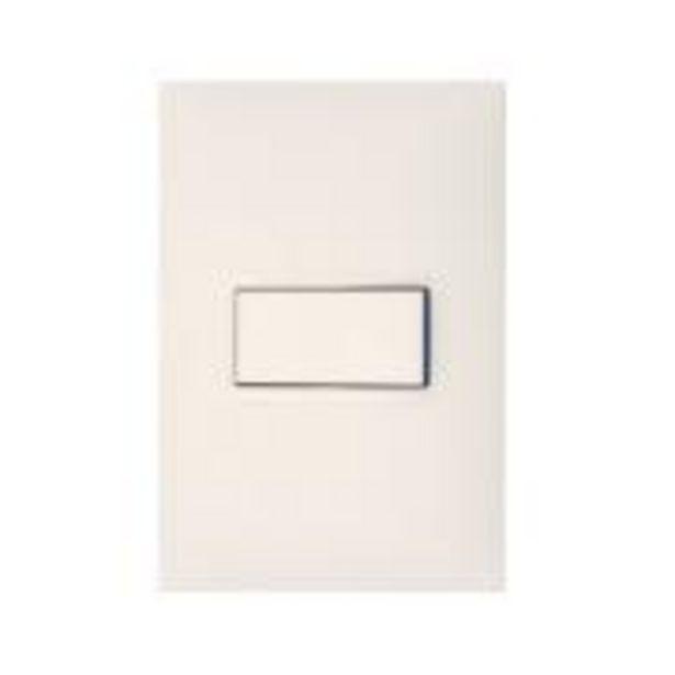 Oferta de Conjunto Interruptor Simples 1 Módulo 10A - Branco - Plus+ -... por R$19,9