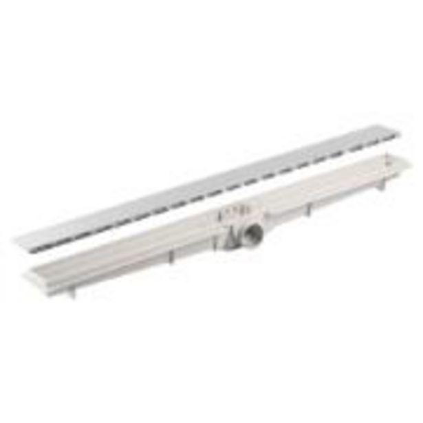 Oferta de Ralo Plástico Piso Linear Flat 5 x 100 cm - LGMais por R$199