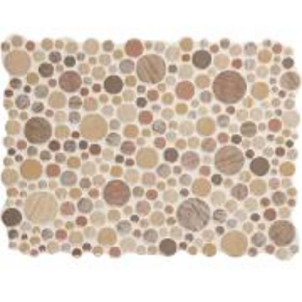 Oferta de Listelo Acetinado 30x40cm Pop Sand - Portobelo por R$100