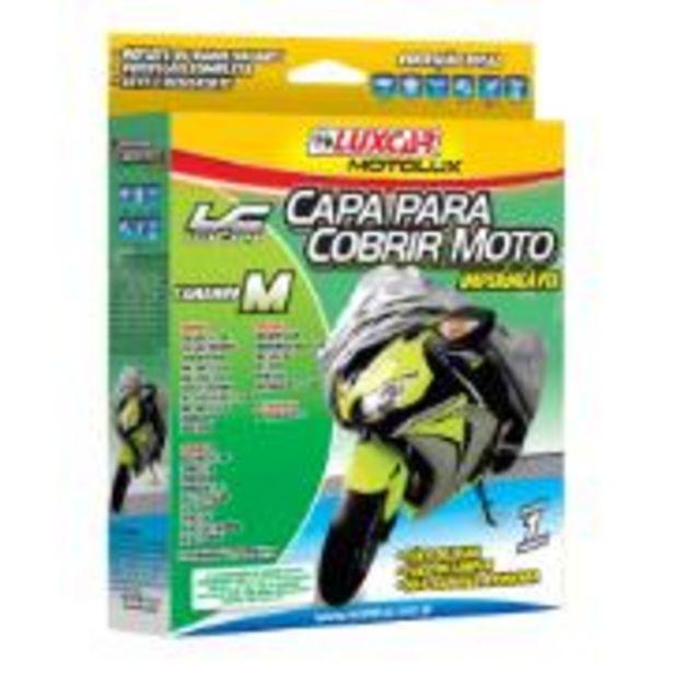 Oferta de Capa Protetora para Moto Tamanho M 1,20 x 1,67m - Luxcar por R$49,9