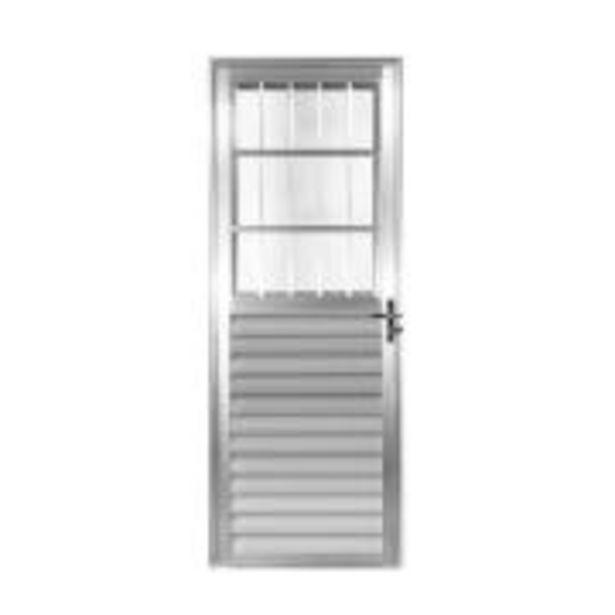 Oferta de Porta de Abrir de Alumínio 210 x 80 cm Postigo Lado Esquerdo - ... por R$499