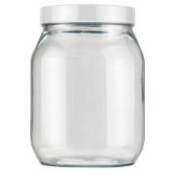 Oferta de Pote de Vidro Redondo 1,3L 11,9cm com Tampa - Invicta por R$9,9