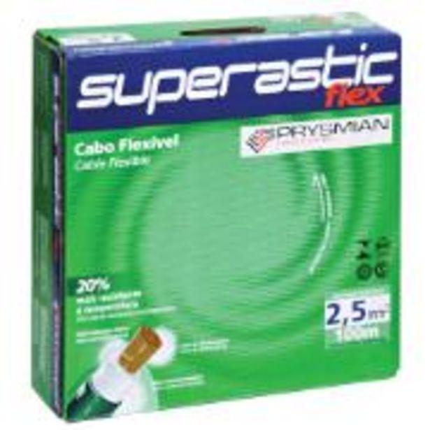 Oferta de Cabo Flexível Antichamas Superastic Flex 2,50 mm² Caixa com ... por R$199