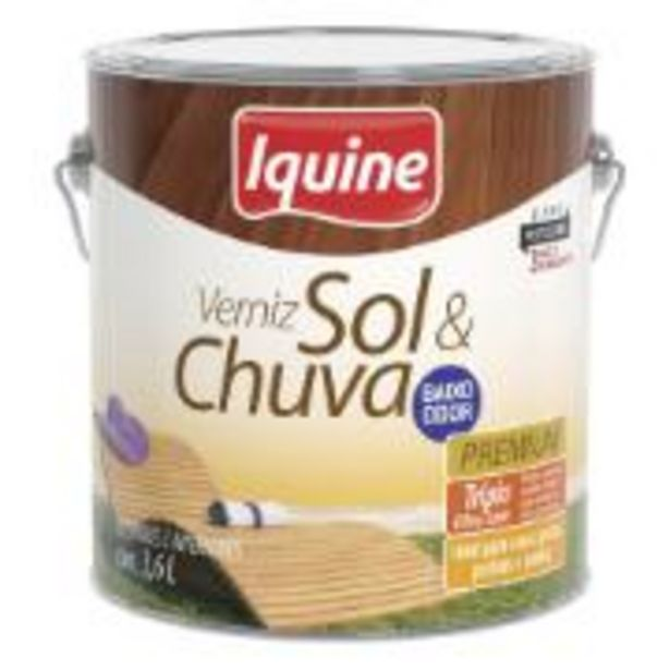 Oferta de Verniz Sol E Chuva Alto Brilho - Imbuia - 3,600L - Sol E Chuva... por R$89,9