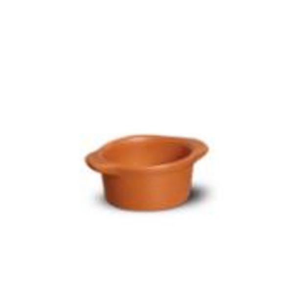 Oferta de Tigela de Cerâmica Redonda 100ml Tijolo - Nova Imagem por R$9,9