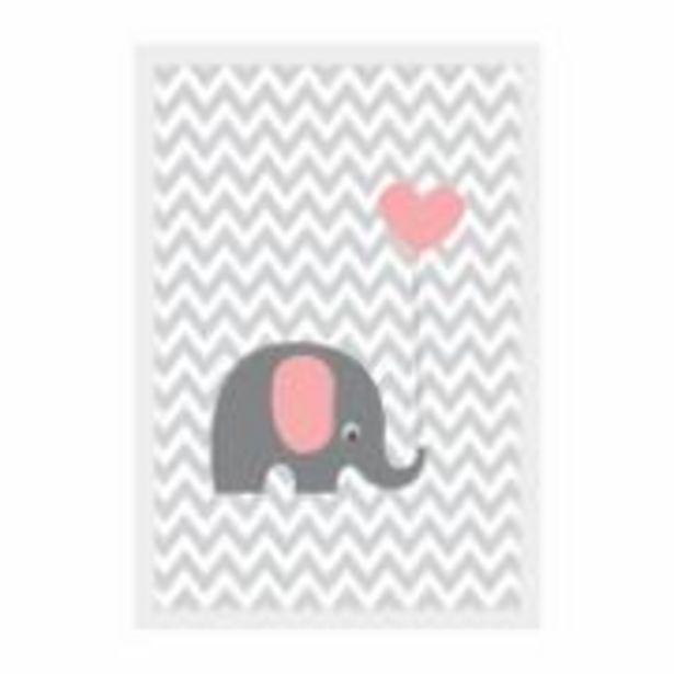 Oferta de Quadro Decorativo 22x32 cm Elefante - Kapos por R$15,9