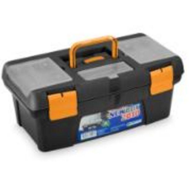 Oferta de Caixa para Ferramentas de Plástico com Bandeja Organizadora Newbox..... por R$61