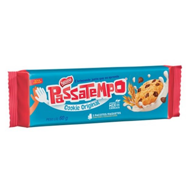 Oferta de Biscoito Cookie Passatempo Gotas de Chocolate 60G por R$2,54