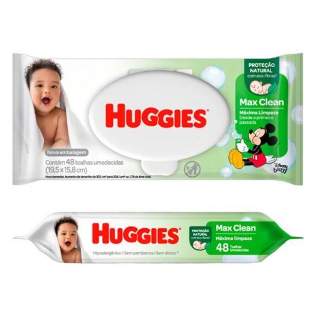 Oferta de Lenço Umedecido Huggies Max Clean 48Un por R$16,99