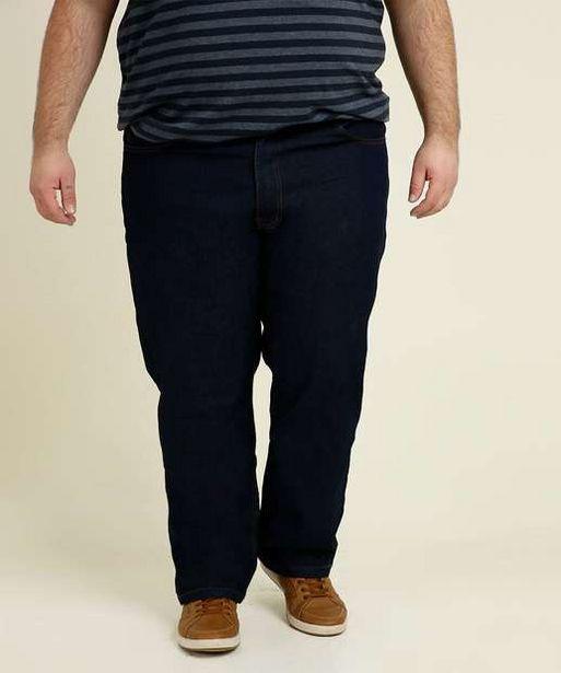 Oferta de Calça Masculina Plus Size Jeans Reta Vilejack por R$47,99