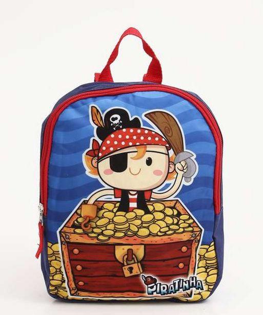 Oferta de Mochila Infantil Estampa Pirata Clio por R$29,95