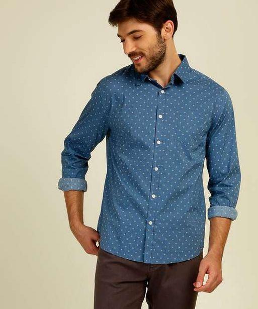 Oferta de Camisa Masculina Estampada Manga Longa MR por R$59,99