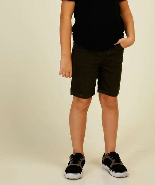 Oferta de Bermuda Infantil Sarja MR Tam 4 a 10 por R$19,99