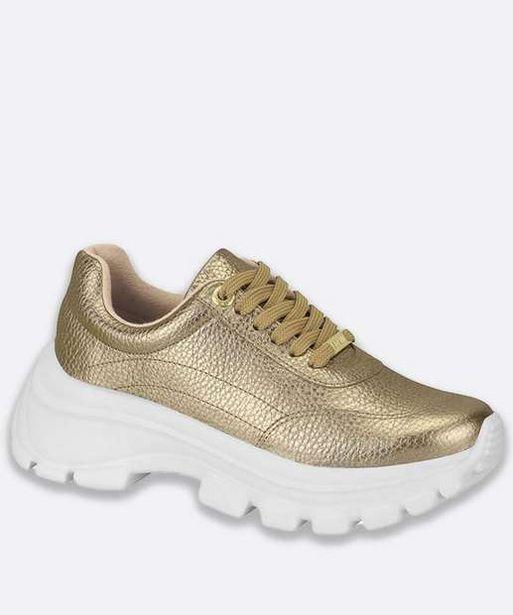 Oferta de Tênis Feminino Chunky Sneaker Metalizado Vizzano por R$79,99