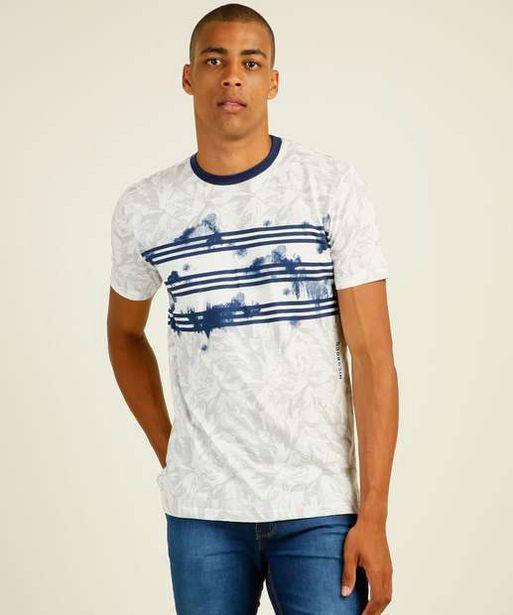 Oferta de Camiseta Masculina Estampa Digital Folhas Wynaut Nicoboco por R$44,99