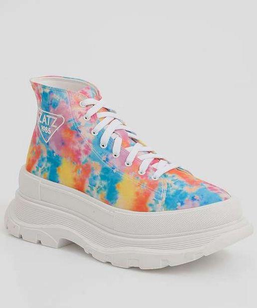 Oferta de Tênis Feminino Chunky Sneaker Tie Dye Cano Alto Zatz por R$99,99