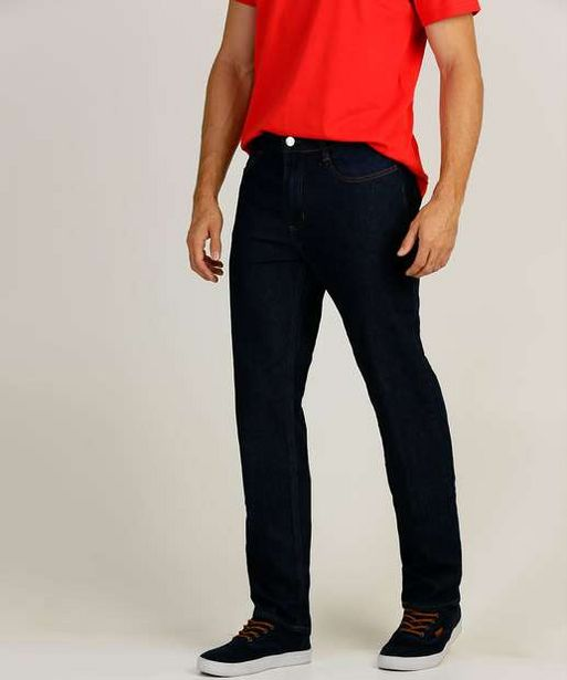 Oferta de Calça Masculina Jeans Delavê Slim por R$59,99
