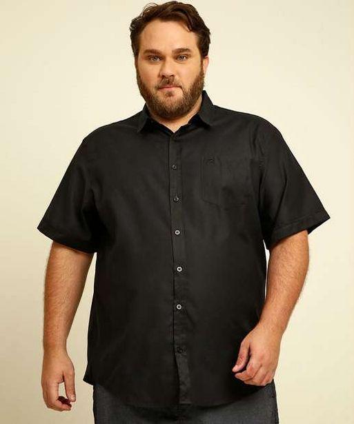 Oferta de Camisa Masculina Bolso Manga Curta Plus Size por R$34,99