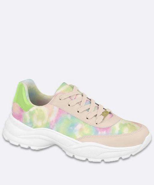 Oferta de Tênis Feminino Chunky Sneaker Estampa Tie Dye Vizzano por R$49,99