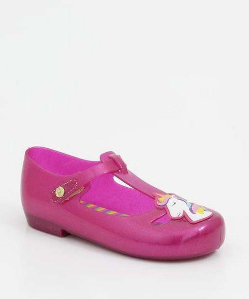 Oferta de Sapatilha Infantil Boneca Glitter Unicórnio Pimpolho por R$19,99