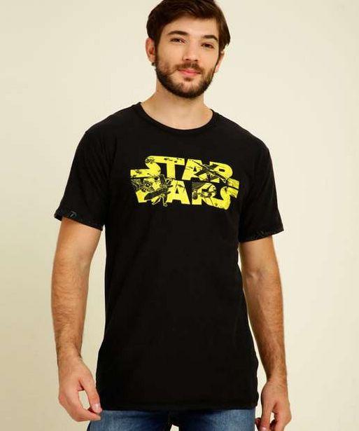 Oferta de  Camiseta Estampa Star Wars Piticas Masculina e Juvenil por R$37,99