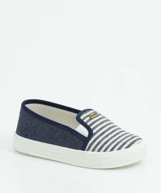 Oferta de Tênis Infantil Slip On Jeans Listrado Pimpolho por R$37,99
