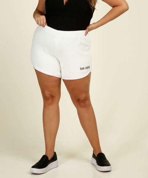Oferta de Short Plus Size Feminino Moletinho Viés Costa Rica por R$26,99