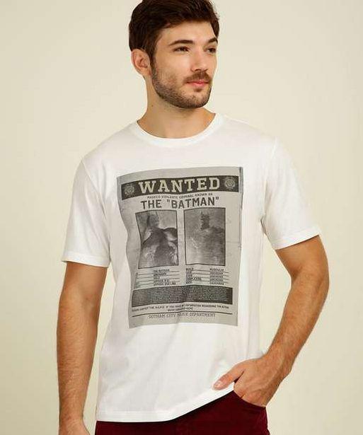 Oferta de Camiseta Masculina Batman Manga Curta Liga da Justiça  por R$21,99