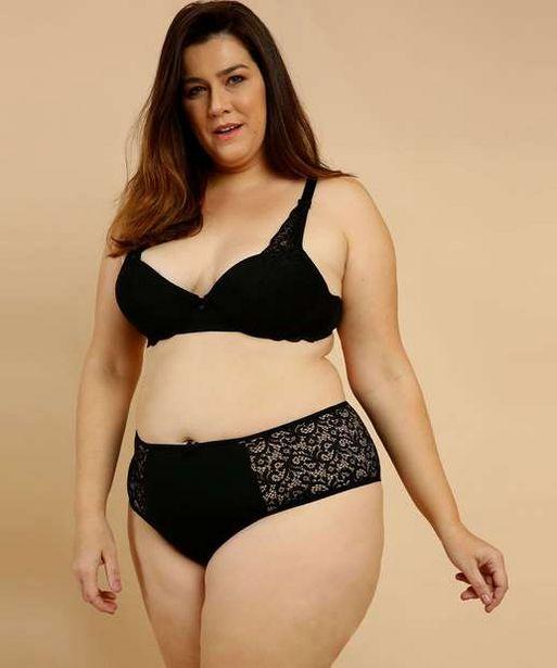 Oferta de Calcinha Plus Size Feminina Alta Renda Marisa por R$11,99
