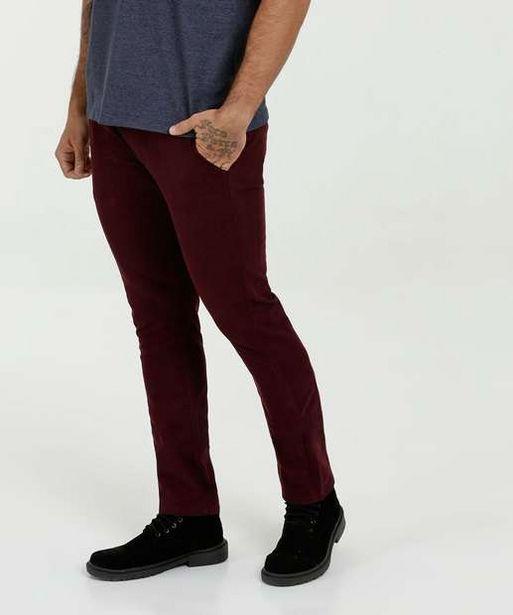 Oferta de Calça Masculina Sarja Slim MR por R$42,99