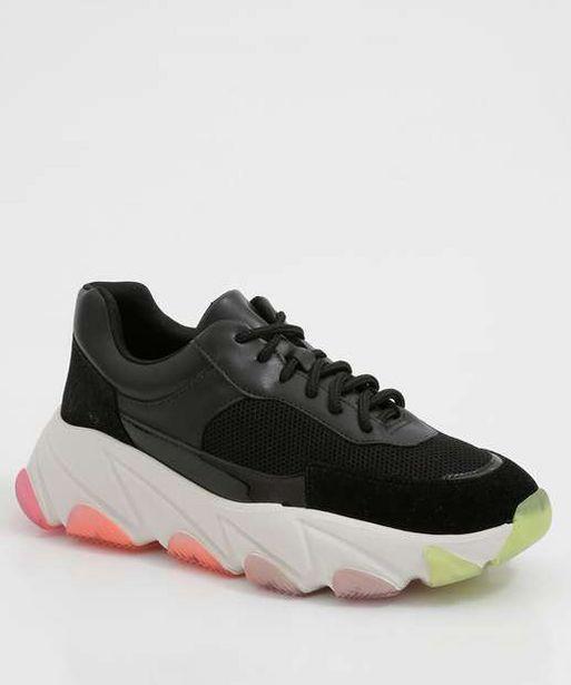 Oferta de Tênis Feminino Chunky Sneaker Recorte Verniz Zatz por R$95,99