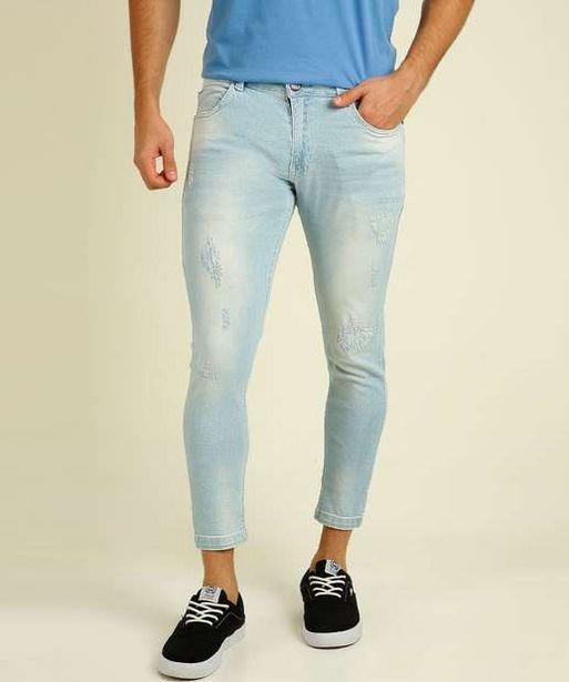 Oferta de Calça Masculina Jeans Skinny Puídos Rock & Soda  por R$66,95