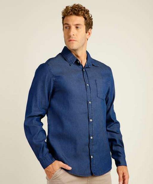 Oferta de Camisa Masculina Jeans Manga Longa MR por R$56,99