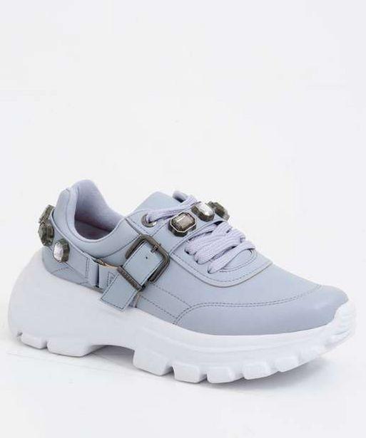 Oferta de Tênis Feminino Chunky Sneaker Pedraria Vizzano  por R$89,99