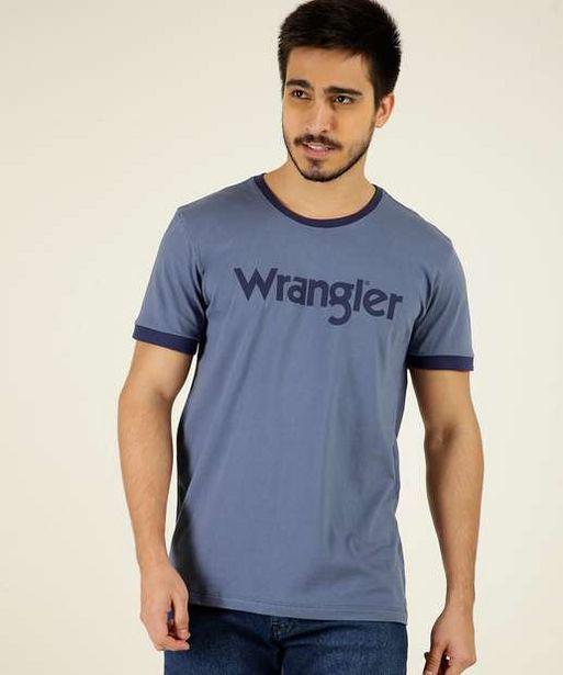 Oferta de Camiseta Masculina Estampa Frontal Manga Curta Wrangler por R$29,99