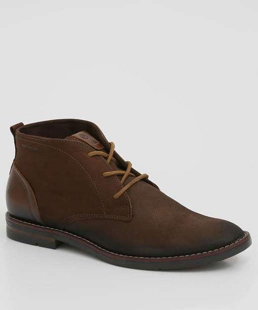 Oferta de Sapato Masculino Abotinado Recorte Pegada  por R$135,99