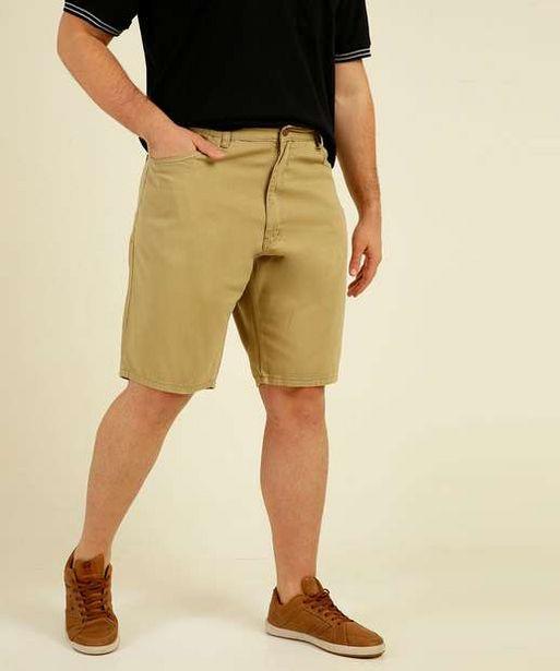 Oferta de Bermuda Masculina Plus Size Sarja Vilejack por R$75,99