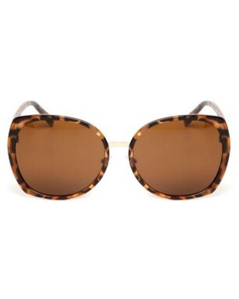 Oferta de Óculos de Sol Quadrado RCHLO Eyewear - Marrom por R$31,9