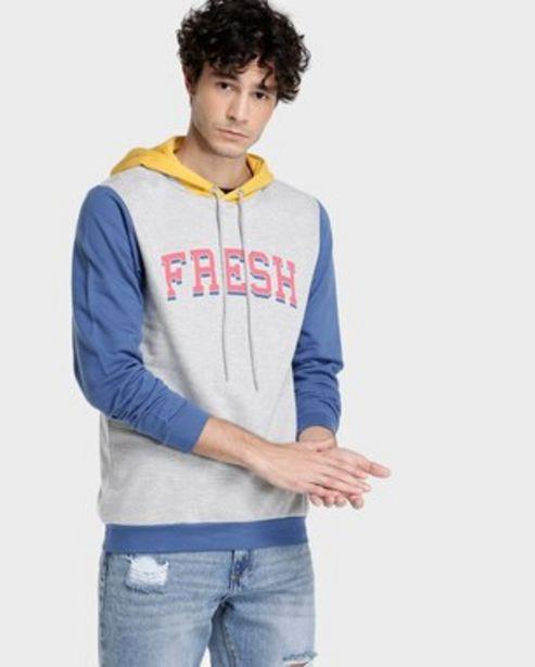 Oferta de Moletom Capuz Fresh - Amarelo/Azul/Cinza por R$99,9