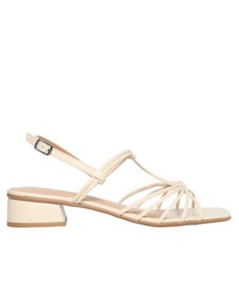 Oferta de Sandália de Tiras RCHLO Shoes - Bege por R$49,9