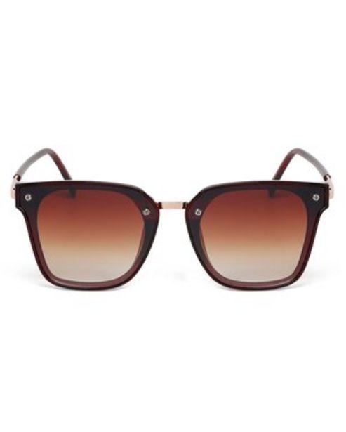Oferta de Óculos de Sol Gatinho RCHLO Eyewear - Vermelho por R$27,9