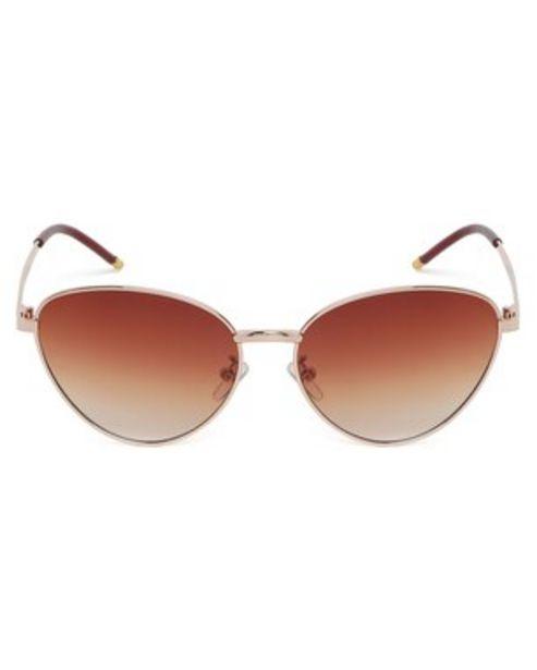 Oferta de Óculos de Sol Gatinho RCHLO Eyewear - Dourado por R$43,9