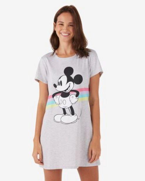 Oferta de Camisola Confort Mickey P/B - Cinza Mescla por R$32,9