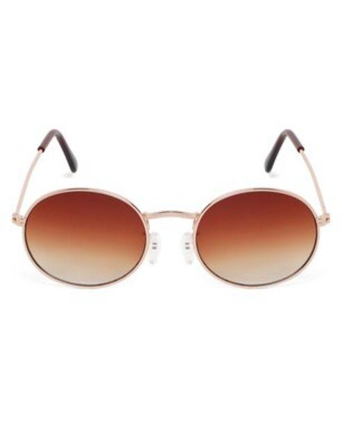 Oferta de Óculos de Sol Oval RCHLO Eyewear - Dourado por R$35,9