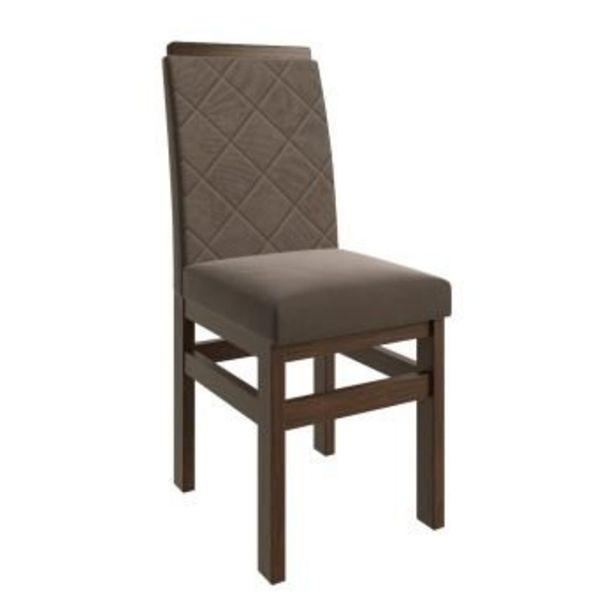 Oferta de Cadeira FB19 Tabaco/Veludo Marrom-Zamarchi por R$269