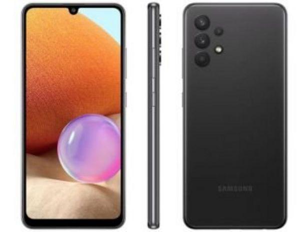 """Oferta de Smartphone Galaxy A32 128GB Preto 4G - 4GB RAM Tela 6,4"""" Câm. Quádrupla + Selfie 20MP-Samsung  por R$1720"""