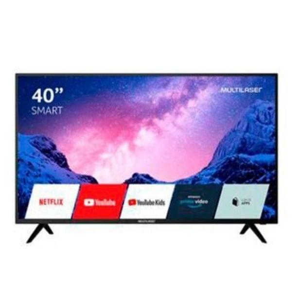 """Oferta de Smart TV 40""""  FHD com Conversor Digital, HDR, Wifi, HDMI e USB Preta - TL030 - Multilaser por R$1799"""