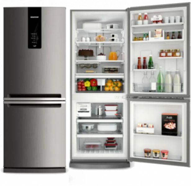 Oferta de Geladeira|Refrigerador Frost Free 443 litros - BRE57 Inox -Brastemp por R$4620