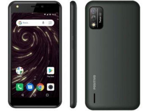 """Oferta de Smartphone Twist S509 32GB Cinza 4G - Octa-Core 1GB RAM Tela 5"""" Câm. 8MP + Selfie 5MP - Positivo  por R$579"""