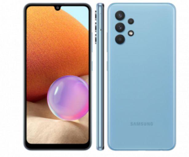 """Oferta de Smartphone Galaxy A32 128GB Azul 4G - 4GB RAM Tela 6,4"""" Câm. Quádrupla + Selfie 20MP-Samsung  por R$1789"""